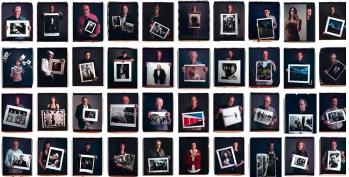 Famous Photographers Posing with their Most Iconic Photos